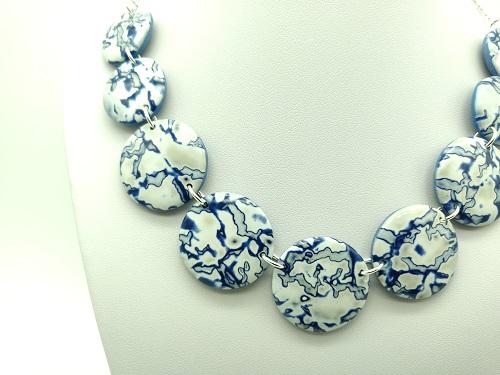 Collier bleu sahara en argent