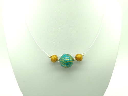 Boule turquoise or