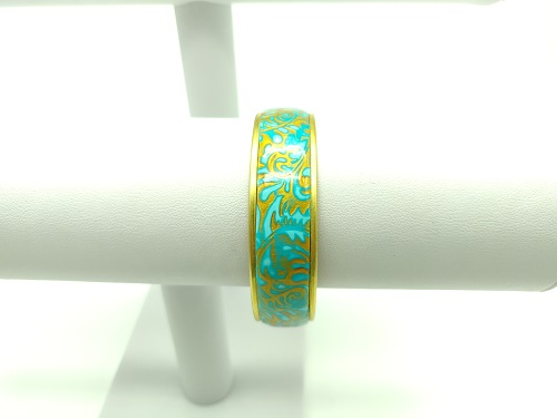 Manchette turquoise or