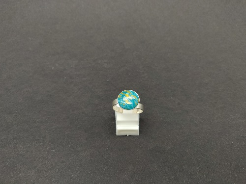 Bague turquoise or